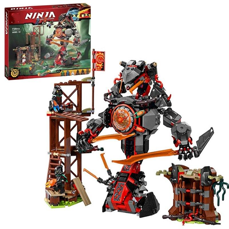 734 PCS 10583 Ninja Figures Set Compatible Dawn of Iron Doom Ninjagoes 70626 Building Blocks Bricks Model Toys for Kids